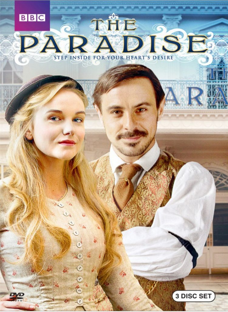 """""""Serie's poster of Paradise about one of the first department stores in the world ; the first department stores in the world"""""""
