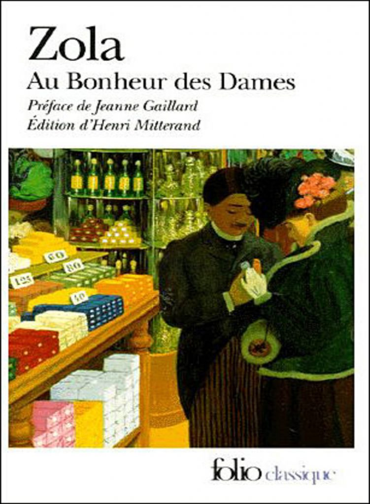 """""""Cover book of Au bonheur des dames of Zola, one of the first department stores in the world"""""""