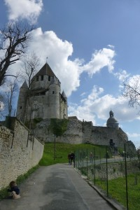 """""""medieval city - old castle tower of middle ages in Provins"""""""