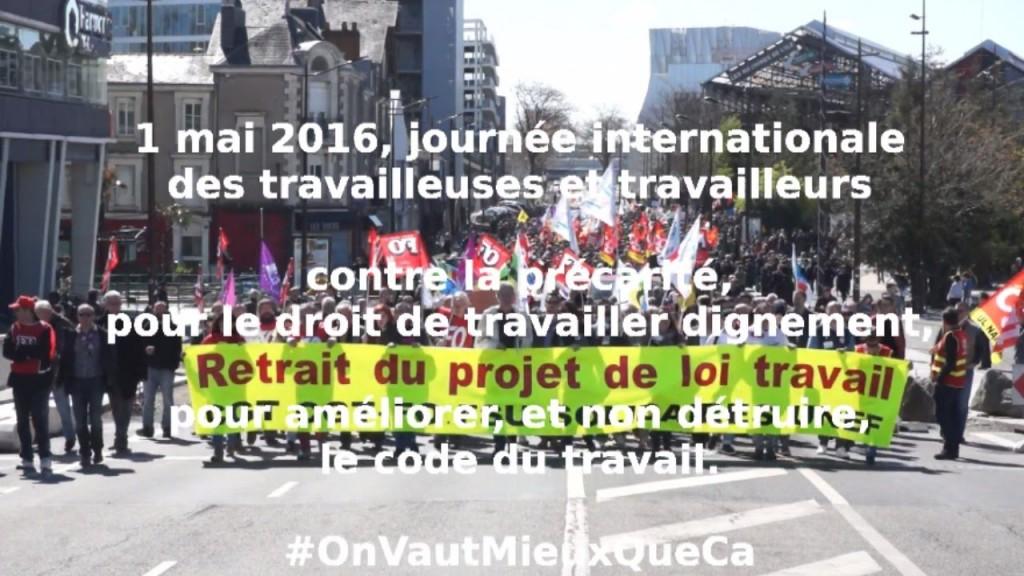 """protest against Loi ElKhomri ; recurrent demonstrations in Paris"""