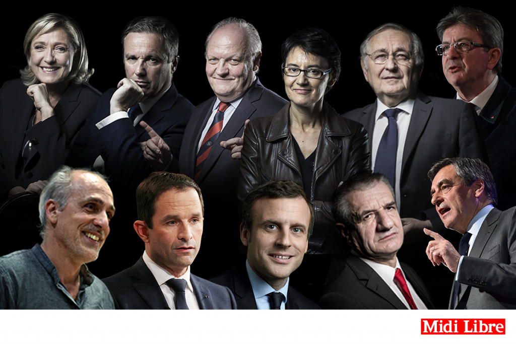 """""""main candidates to French presidential election 20107 - diversity in politics"""""""