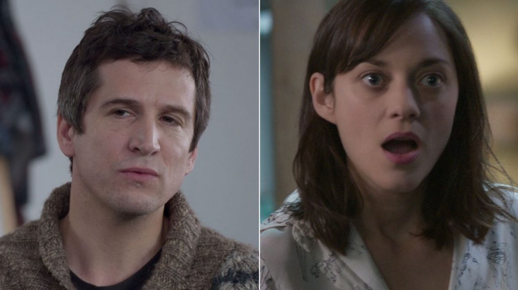 """2 main characters of Rock N'Roll, played by Guillaume Canet and Marion Cotillard - subject : turned 40!"""