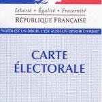 """""""an electoral card"""""""