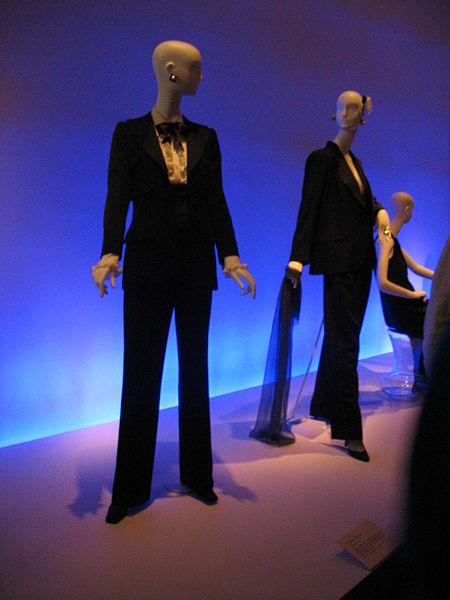 """French fashion designer Yves Saint-Laurent - YSL Smoking"""