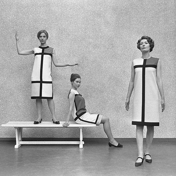 """French fashion designer Yves Saint-Laurent - Mondrian dress"""