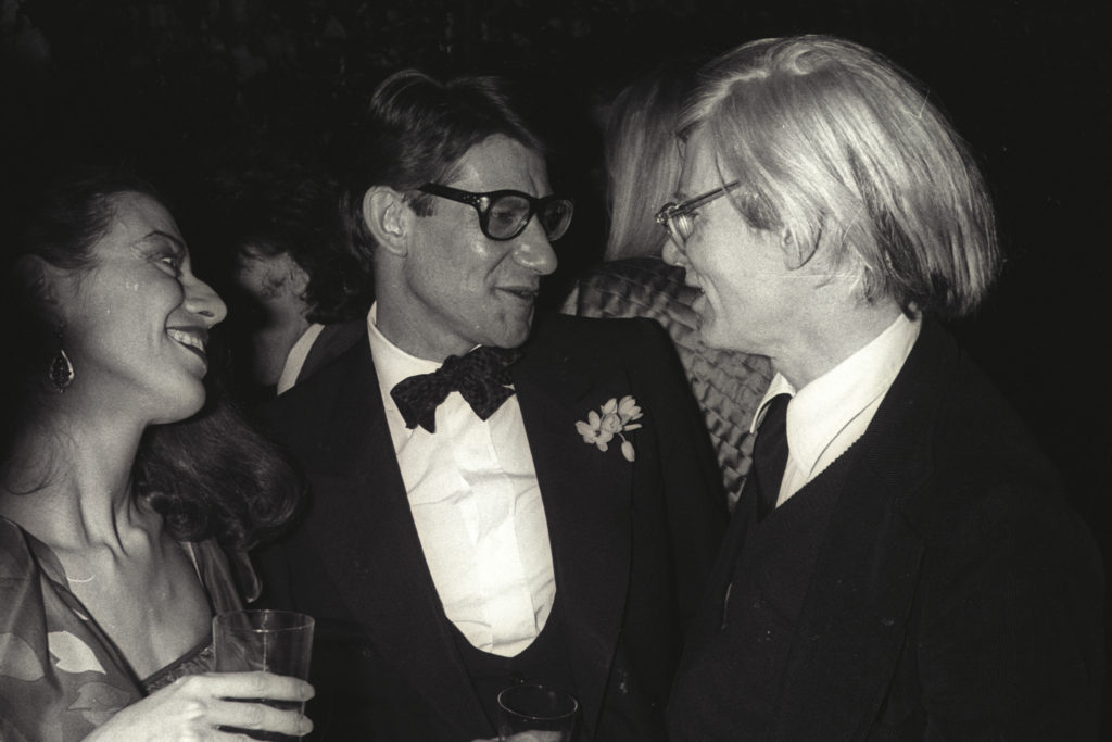 """French fashion designer Yves Saint-Laurent - YSL and Wharol"""