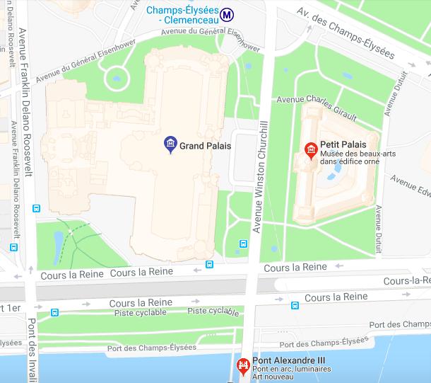 """Parisian Art Gallery - Petit Palais, Grand palis, Pont Alexandre III"""