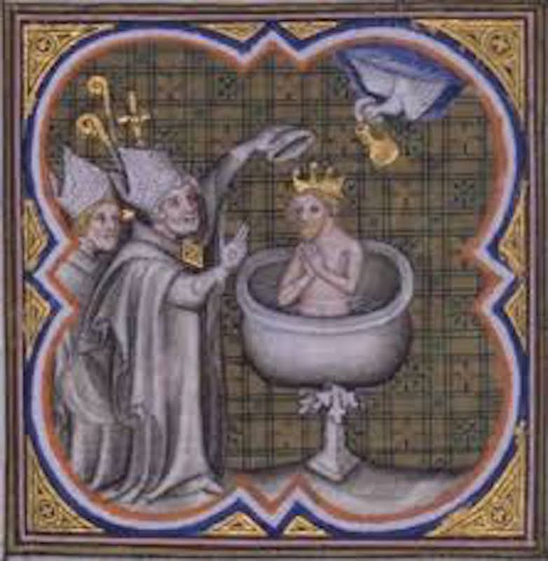 """French History - Baptême de Clovis"""