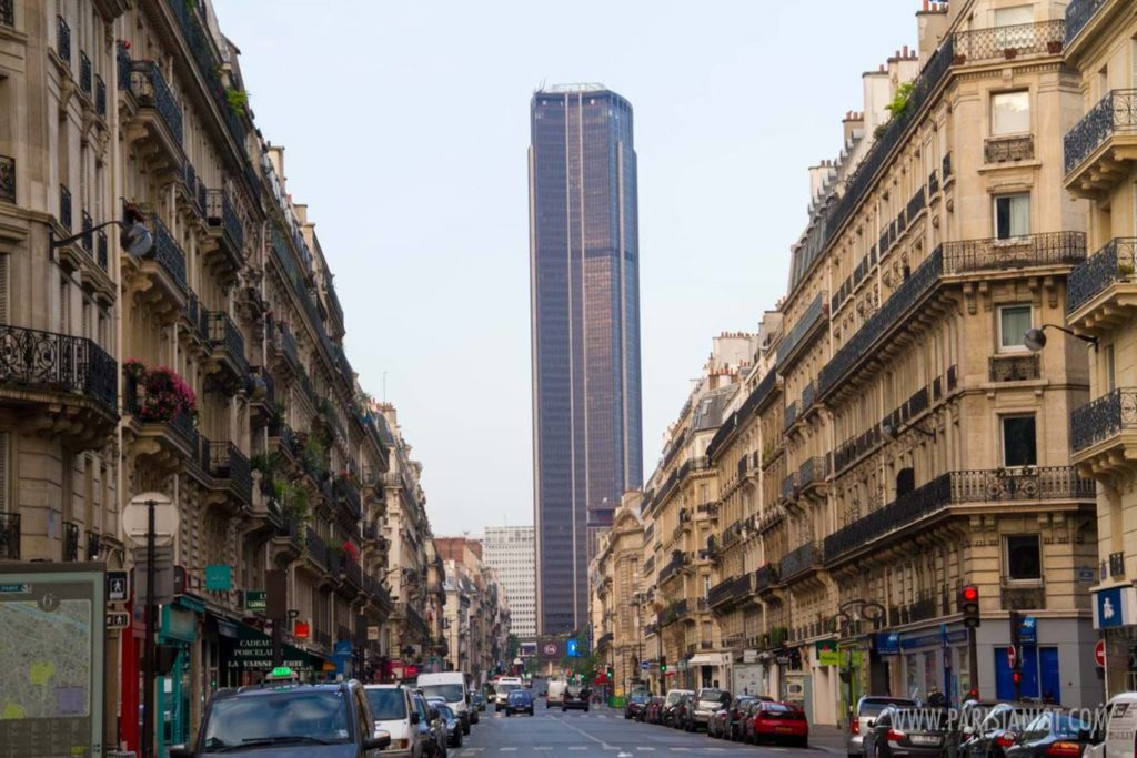 Montparnasse Tower - From Rue de Rennes""