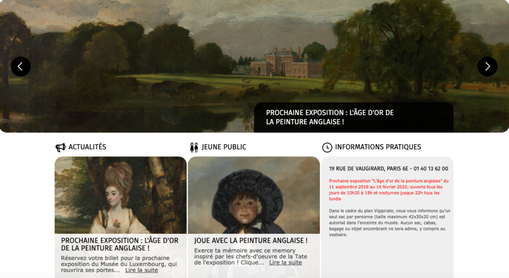 """Parisian Luxembourg gardens - Luxembourg Museum 2019 Program"""