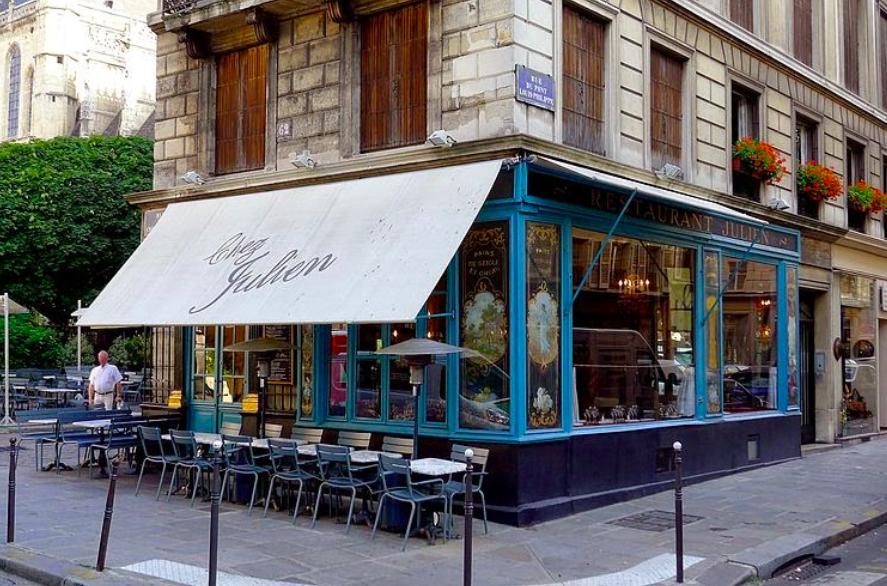 """""""Parisian café terraces - Chez Julien"""""""