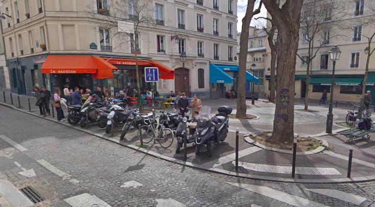 """""""Parisian café terraces - Rue et place Sainte Marthe"""""""