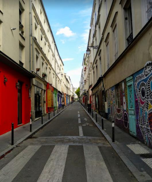 """""""Parisian café terraces - La rue Sainte Marthe"""""""