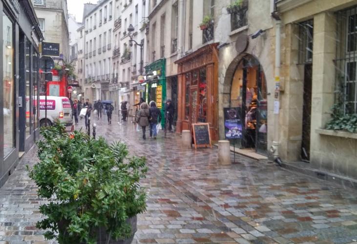 """""""Parisian café terraces - La rue des rosiers"""""""