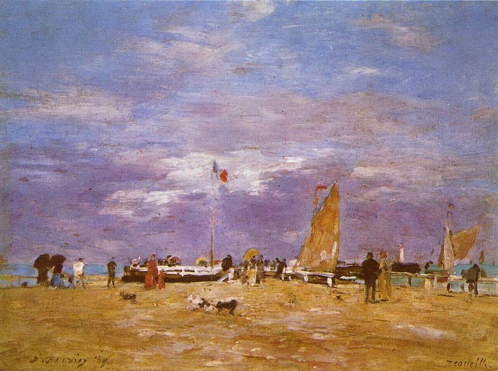 """""""Paris Deauville - La plage de Deauville d'Eugène Boudin - 1865"""""""