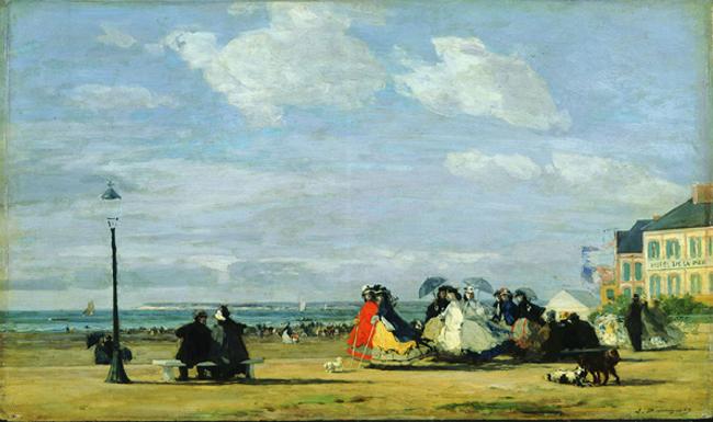 """""""Paris Deauville - L'impératrice Eugénie sur la plage de Trouville - 1863Eugène Boudin"""""""